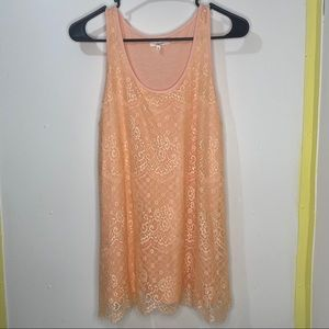 Maurices Lined Lace Tank Top